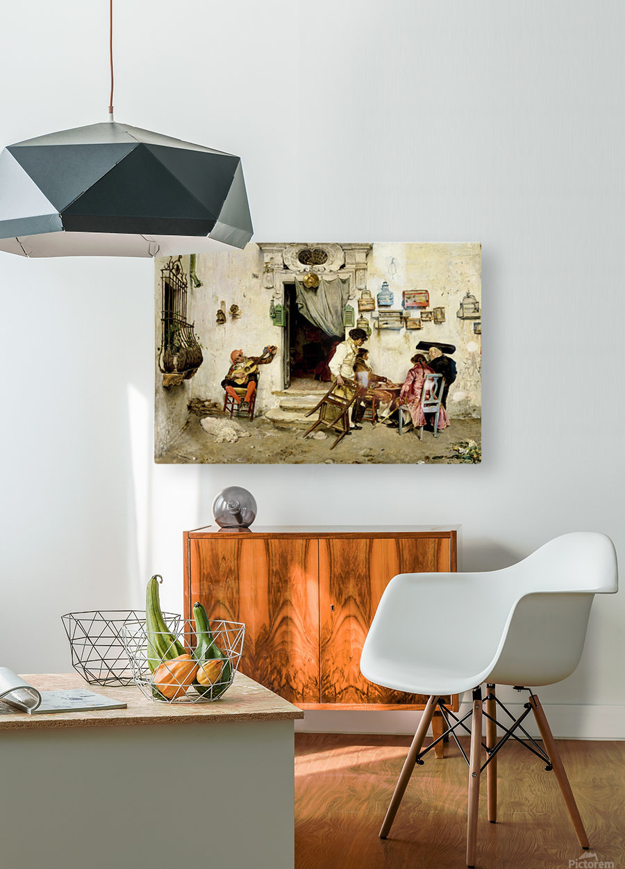 Figaro Shop  HD Metal print with Floating Frame on Back