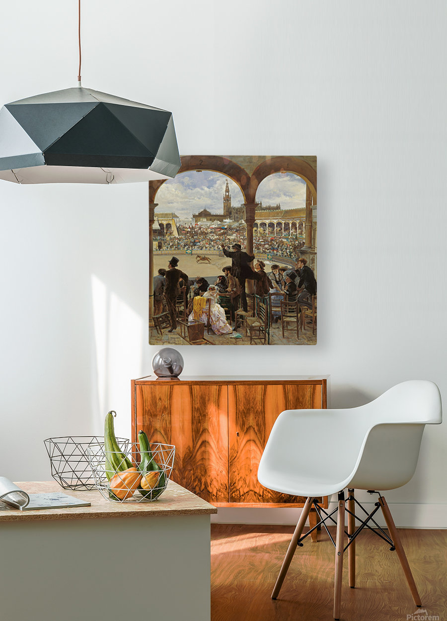 A Pass in the Bullring  HD Metal print with Floating Frame on Back