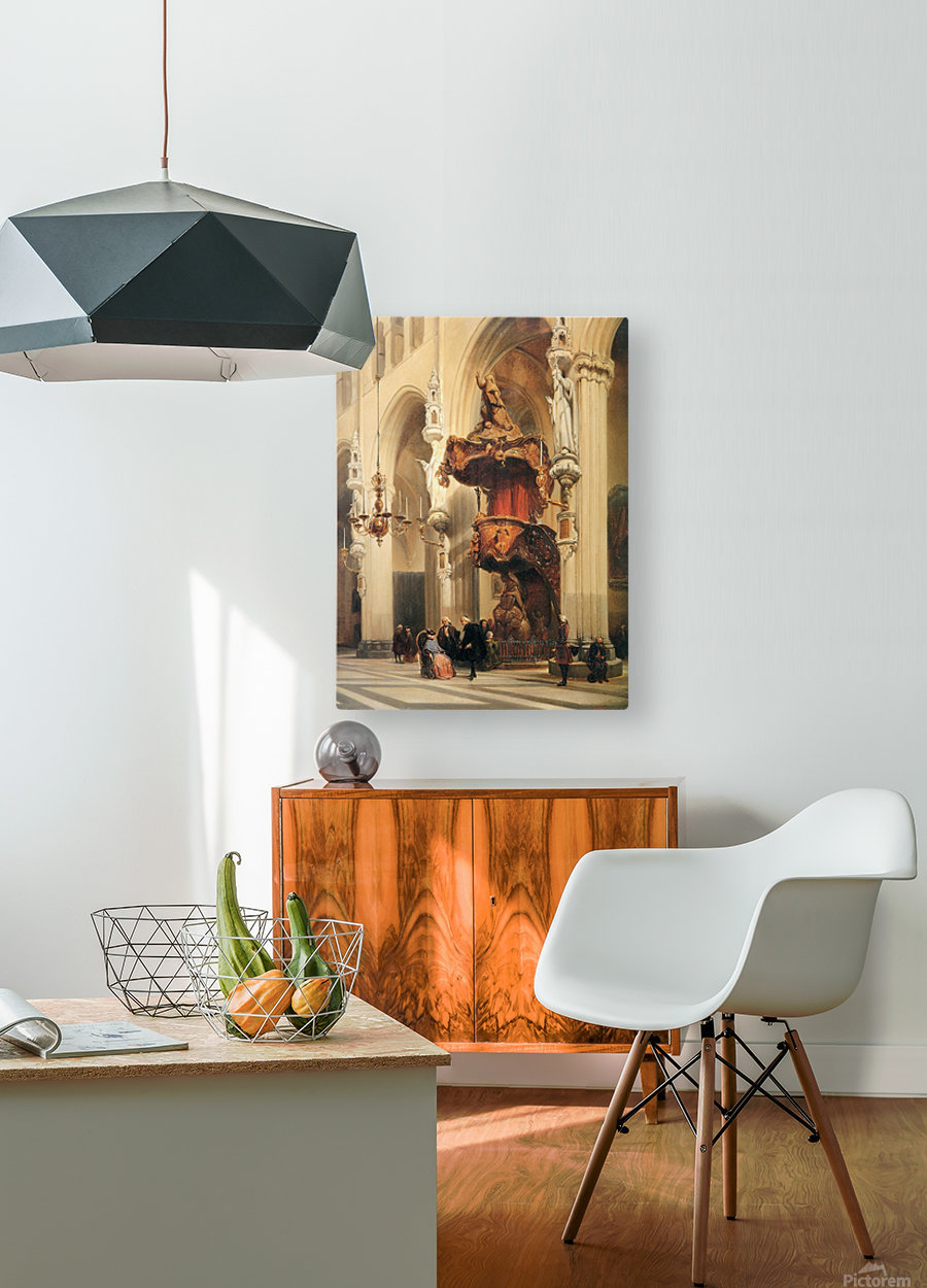 Interior of a church  HD Metal print with Floating Frame on Back