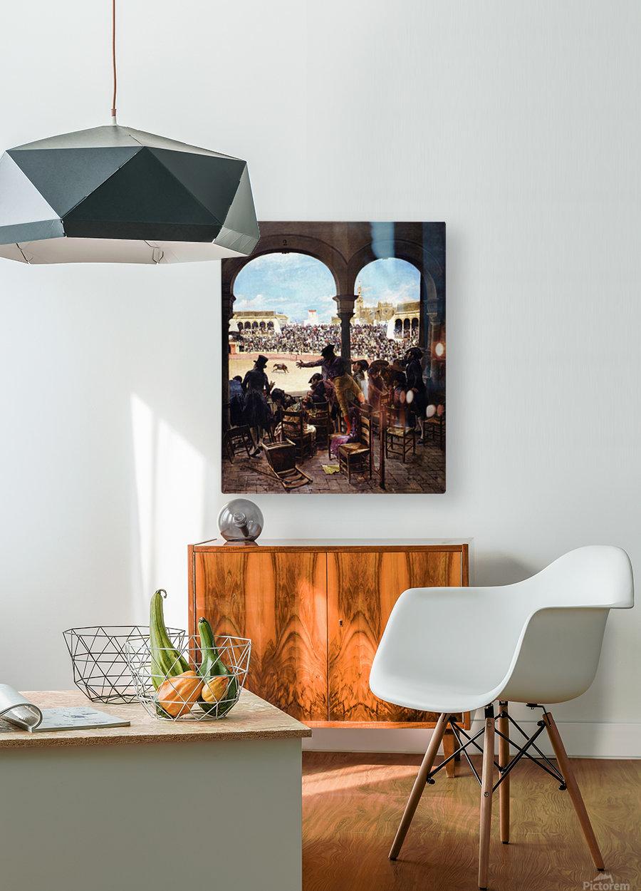 Un lance en la plaza de toros  HD Metal print with Floating Frame on Back