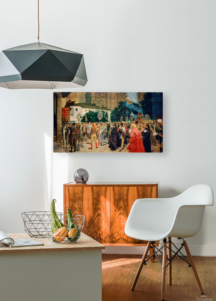 Holy Week in Seville  HD Metal print with Floating Frame on Back
