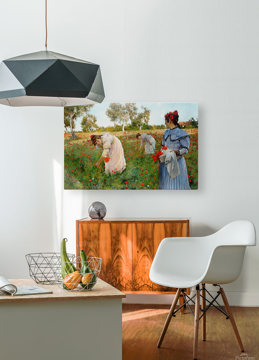 Three little Spanish ladies  HD Metal print with Floating Frame on Back