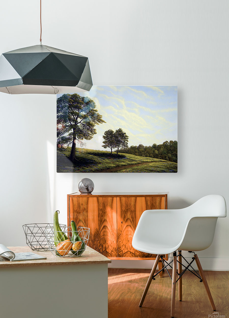 April Afternoon  HD Metal print with Floating Frame on Back