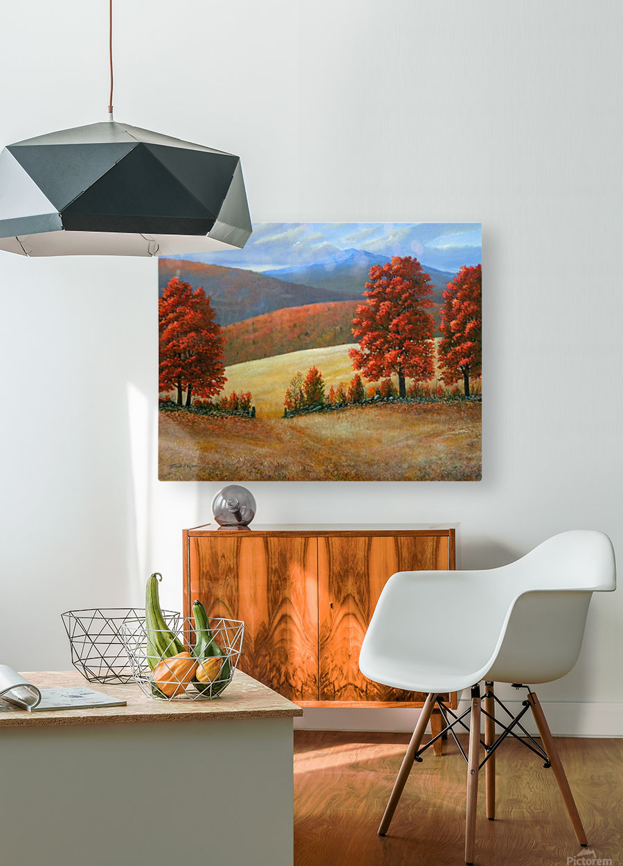Autumns Glory  HD Metal print with Floating Frame on Back