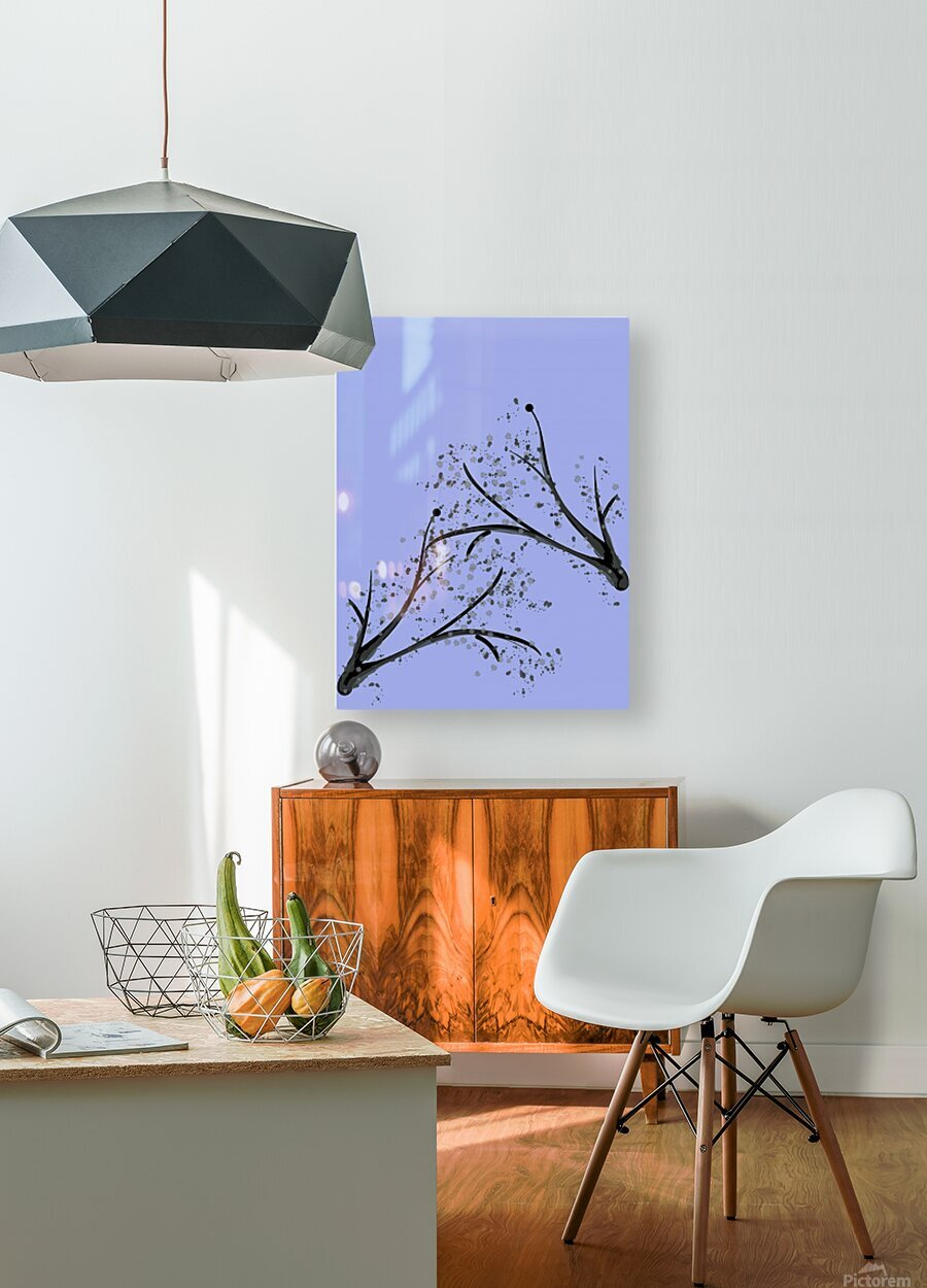 watercolor tree  HD Metal print with Floating Frame on Back