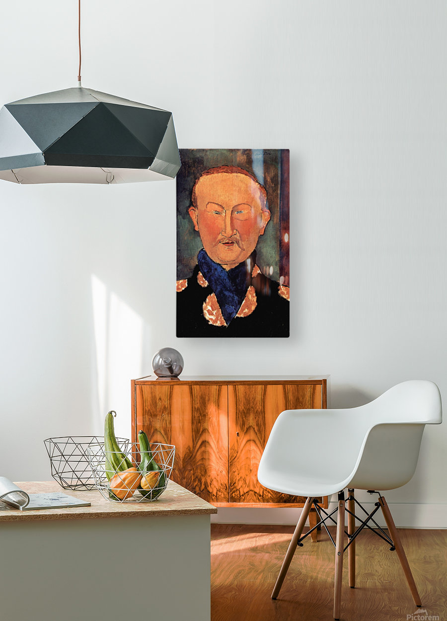Modigliani - Portrait of Leon Bakst  HD Metal print with Floating Frame on Back