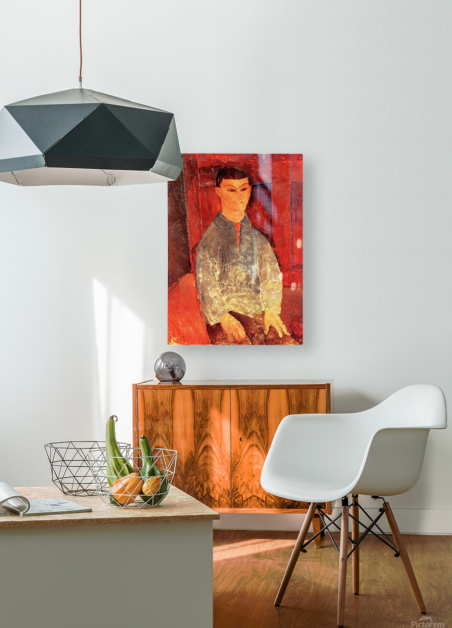 Modigliani - Portrait of Moise Kisling -3-  HD Metal print with Floating Frame on Back