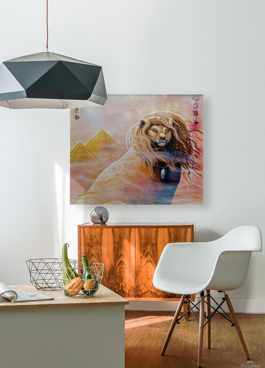 Le roi soleil   Impression métal HD avec cadre flottant sur le dos
