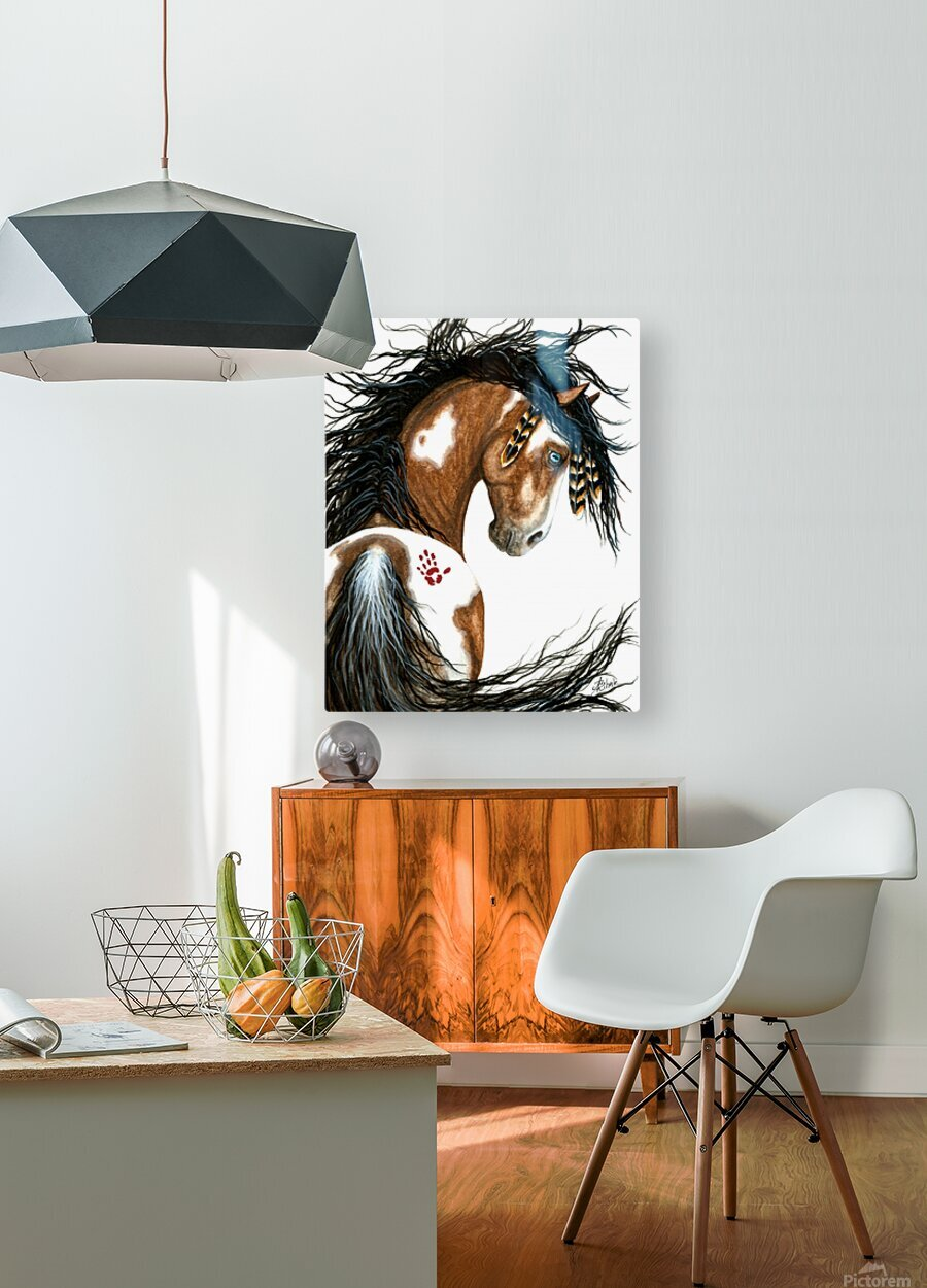 Majestic Pinto Horse  HD Metal print with Floating Frame on Back