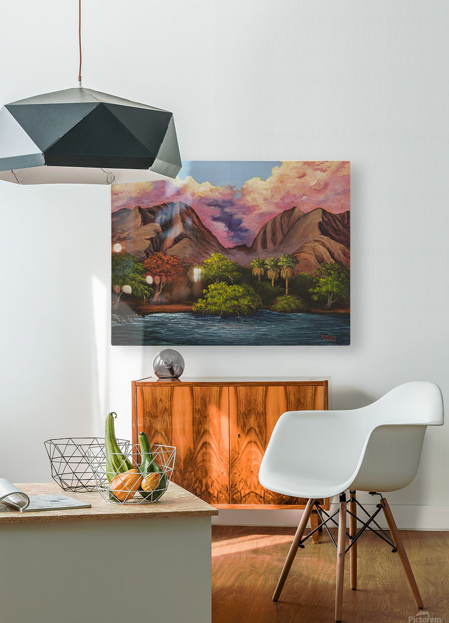 Olowalu  HD Metal print with Floating Frame on Back