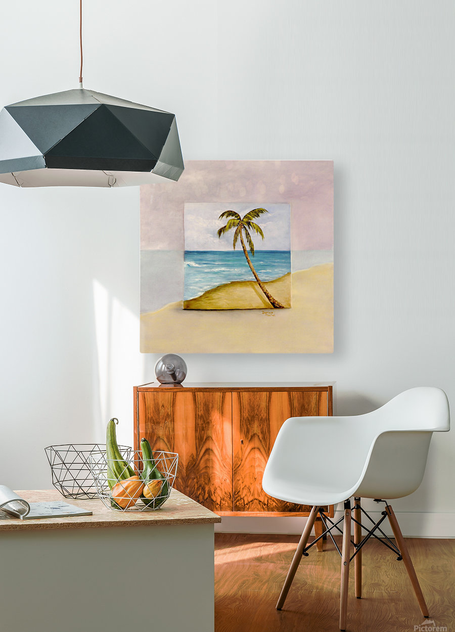 Swaying Palm  HD Metal print with Floating Frame on Back