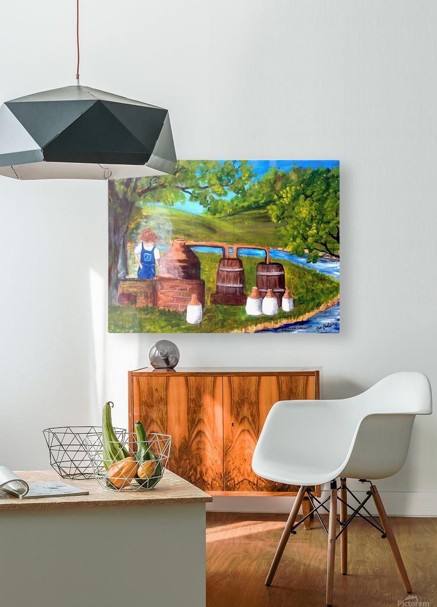 moonshiner  HD Metal print with Floating Frame on Back
