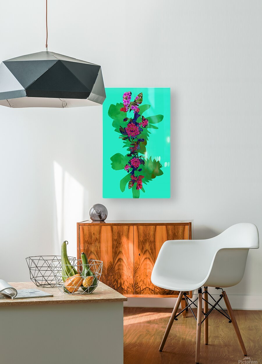 Floral Collage  HD Metal print with Floating Frame on Back