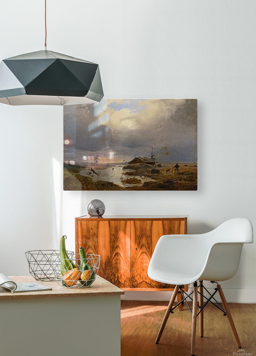 Skandinavische Landschaft  HD Metal print with Floating Frame on Back