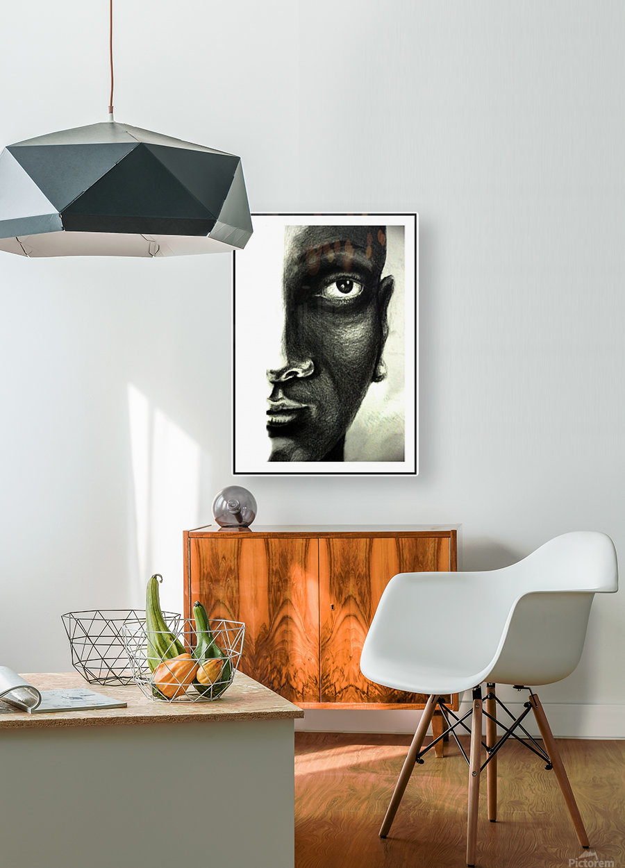 Thinking  HD Metal print with Floating Frame on Back