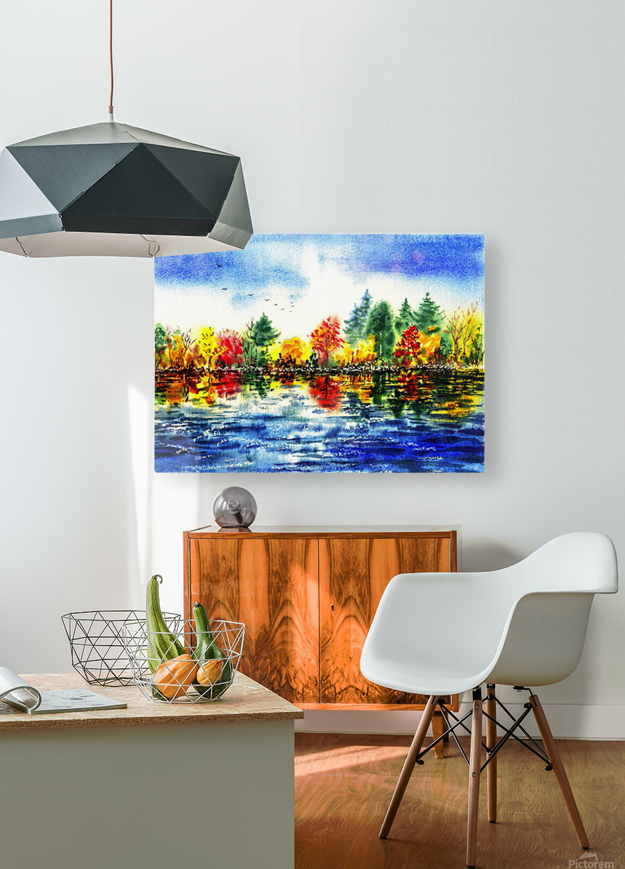 Fall Reflections  HD Metal print with Floating Frame on Back