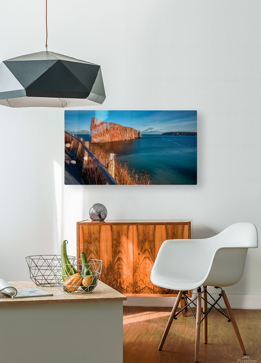 Lumiere sur le Rocher Perce  HD Metal print with Floating Frame on Back