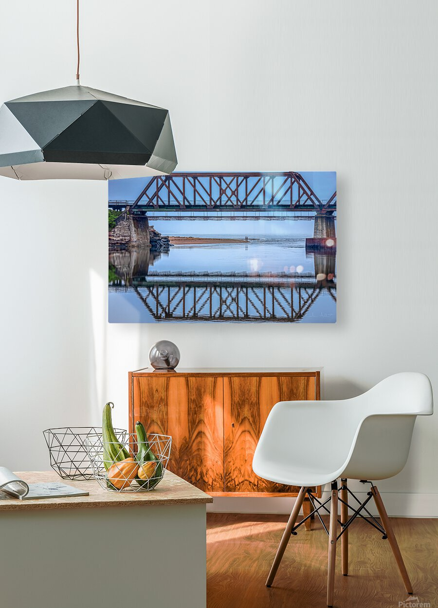 Vision double  HD Metal print with Floating Frame on Back