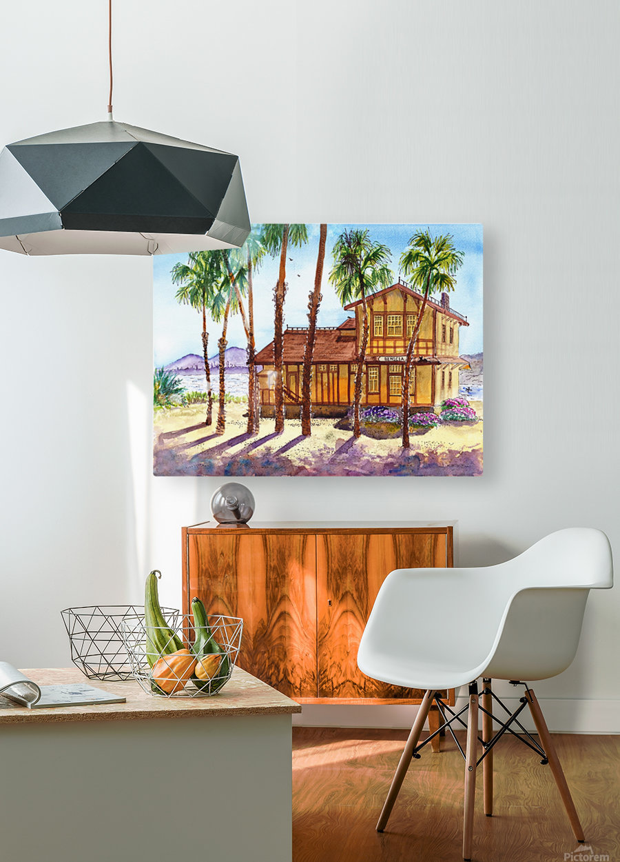 Summer Day Shadows  HD Metal print with Floating Frame on Back