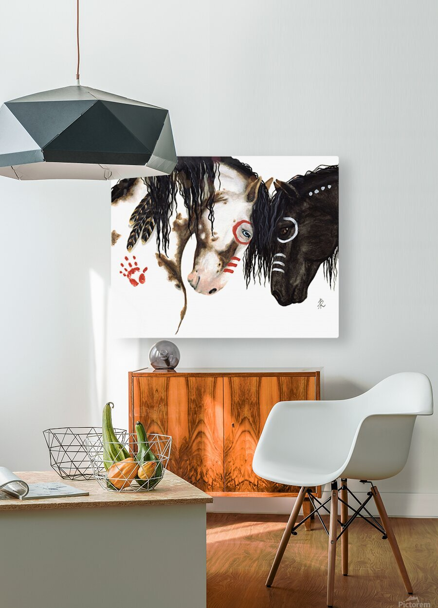 Majestic Spirit Horses  HD Metal print with Floating Frame on Back