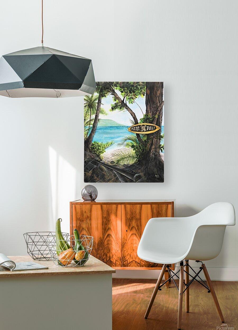 Collection COSTA RICA-Matapalo  Impression métal HD avec cadre flottant sur le dos