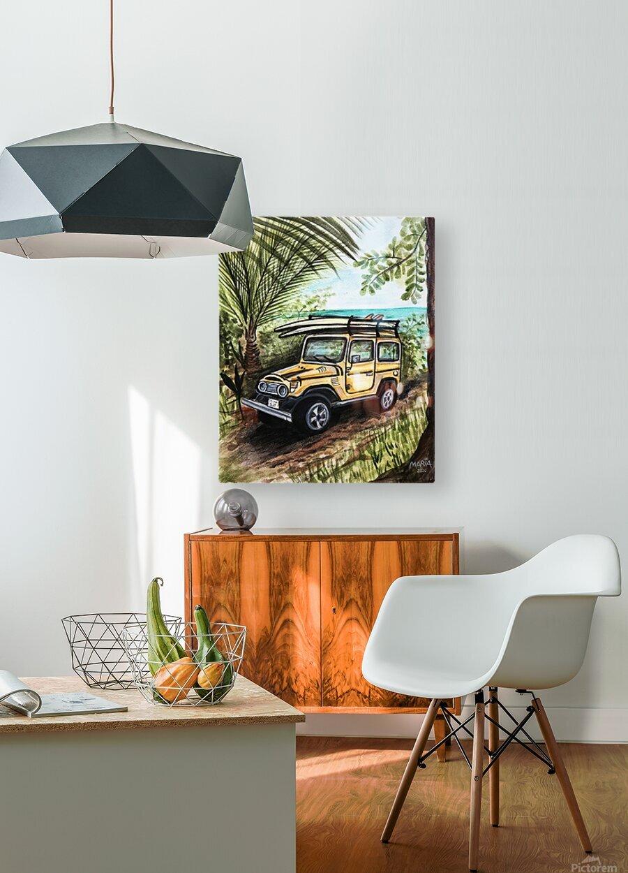 Collection COSTA RICA-Jeep  Impression métal HD avec cadre flottant sur le dos