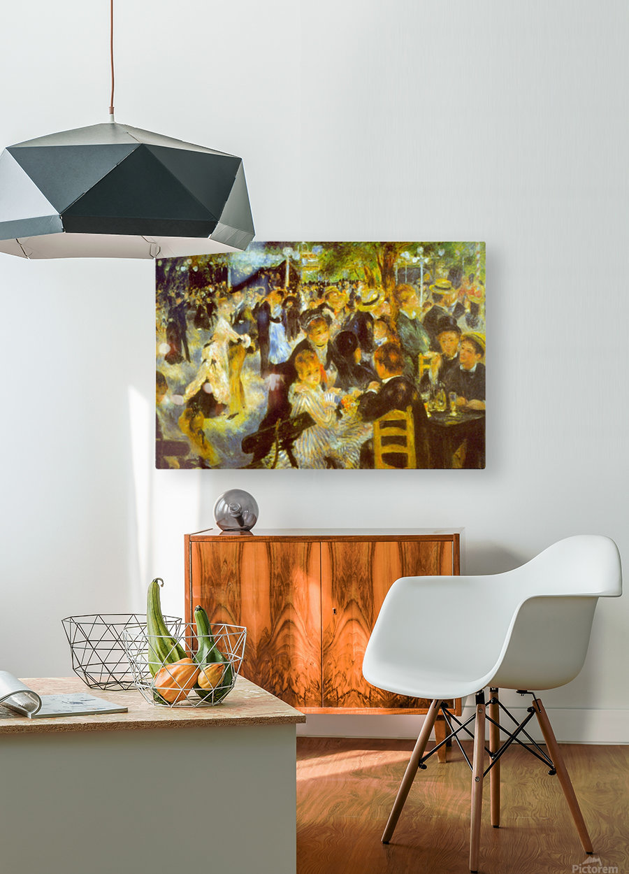 Moulin Galette by Renoir  HD Metal print with Floating Frame on Back