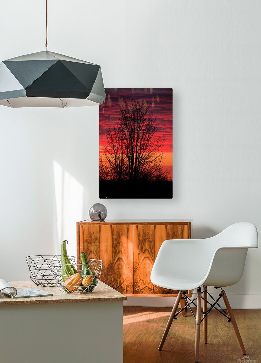 Liberty Missouri Sunset   HD Metal print with Floating Frame on Back
