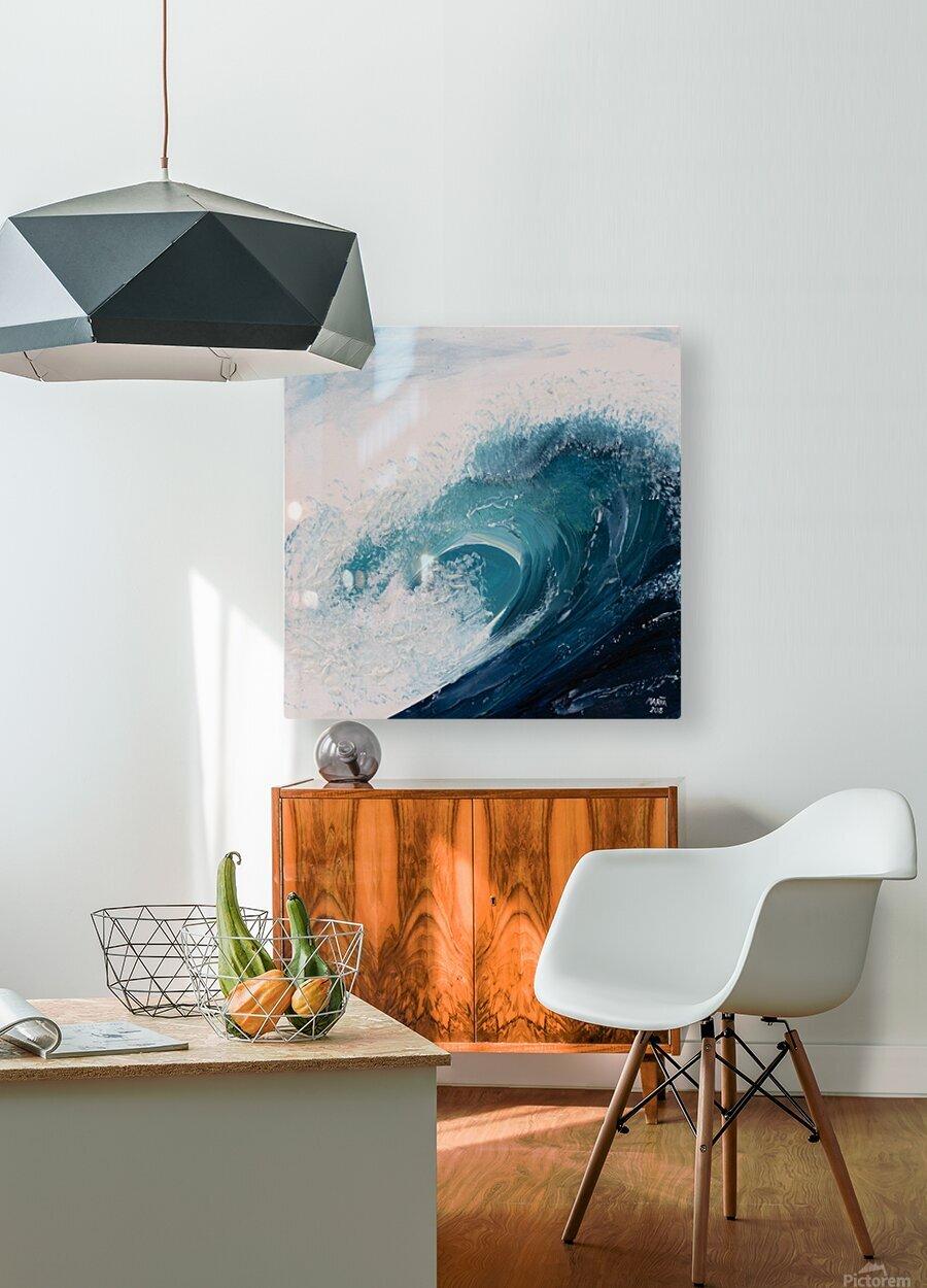 Collection WAVES-Current  Impression métal HD avec cadre flottant sur le dos