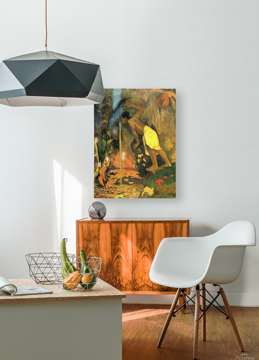 Mysterious Source by Gauguin  HD Metal print with Floating Frame on Back