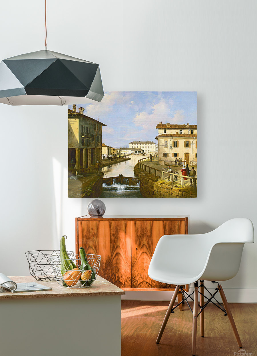 Il Naviglio dal ponte di San Marco  HD Metal print with Floating Frame on Back