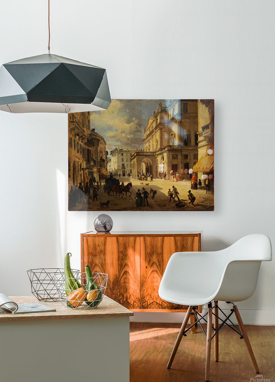 View of the Teatro alla Scala from Giardino lane  HD Metal print with Floating Frame on Back