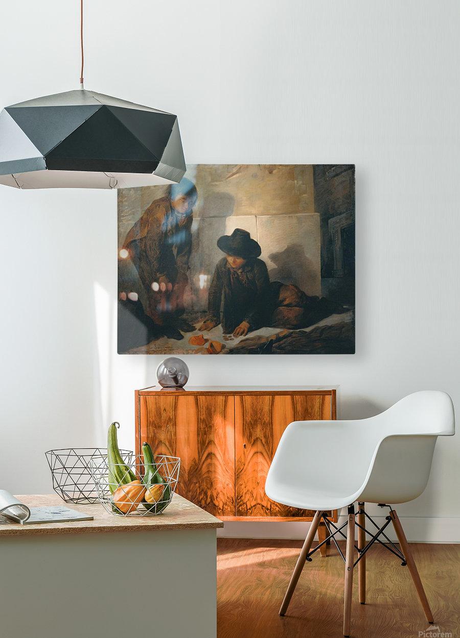 Spazzacamini, la rottura del salvadanaio  HD Metal print with Floating Frame on Back