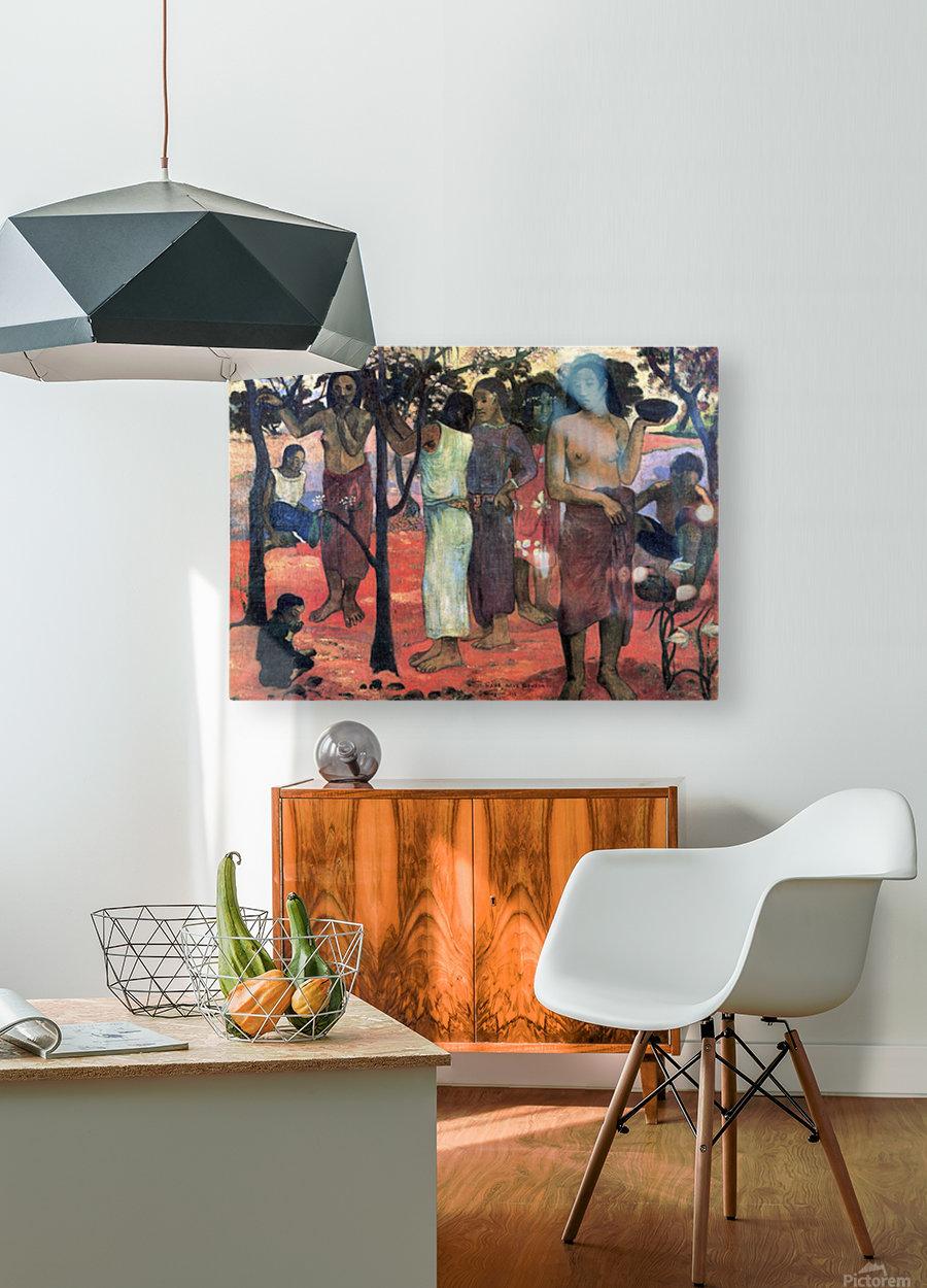 Nava Nava Mehana by Gauguin  HD Metal print with Floating Frame on Back