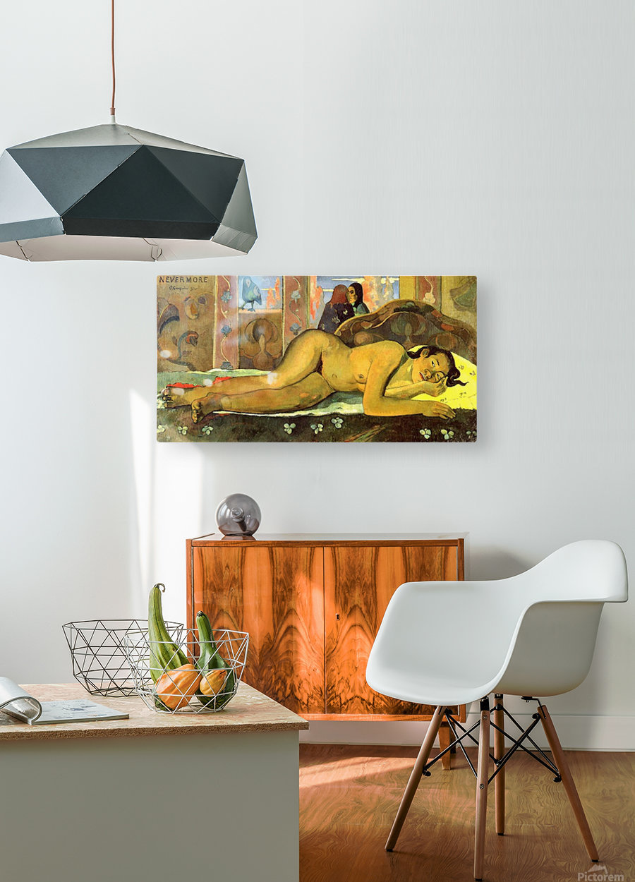Nevermore by Gauguin  HD Metal print with Floating Frame on Back
