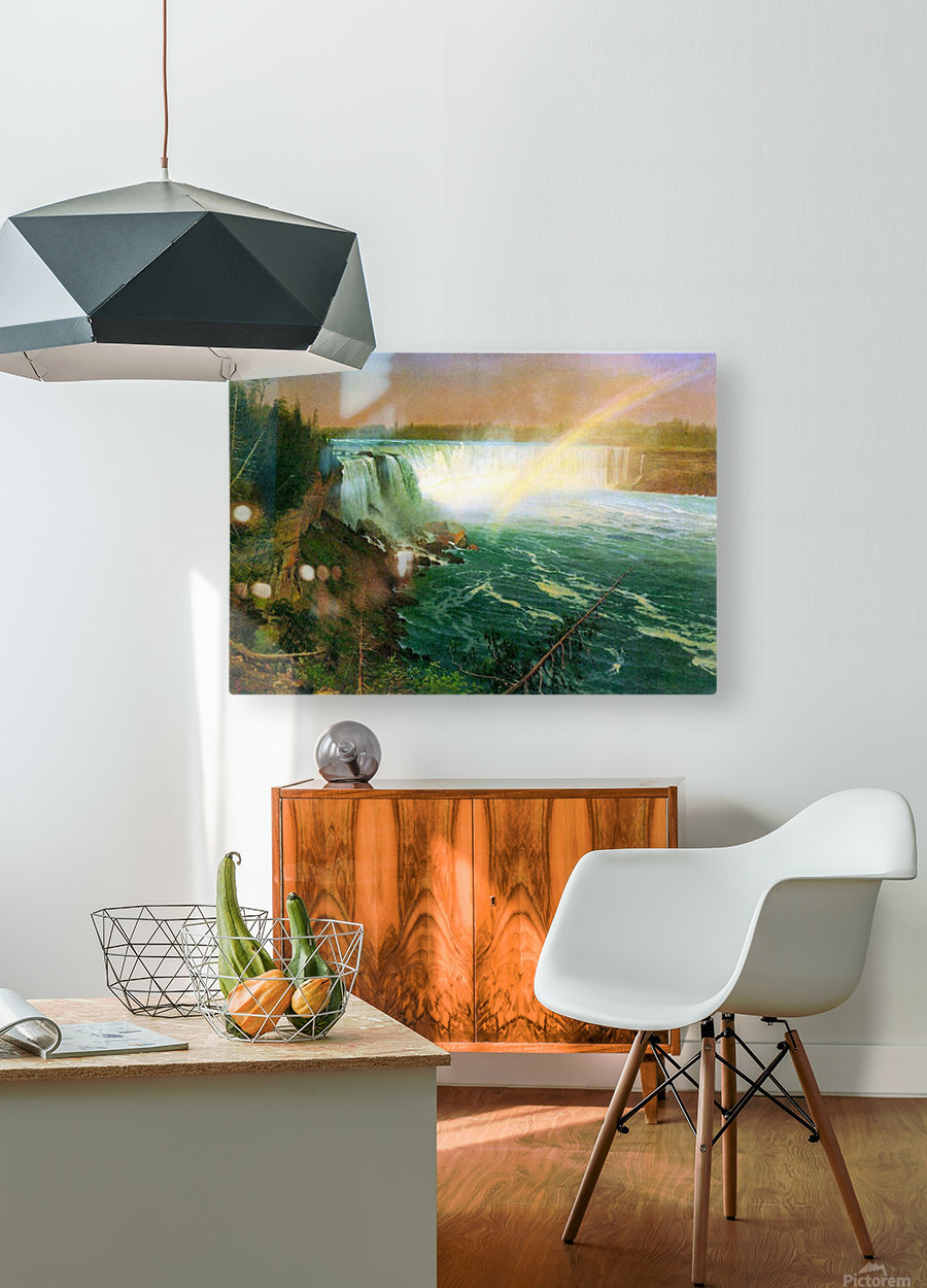 Niagra Falls by Bierstadt  HD Metal print with Floating Frame on Back