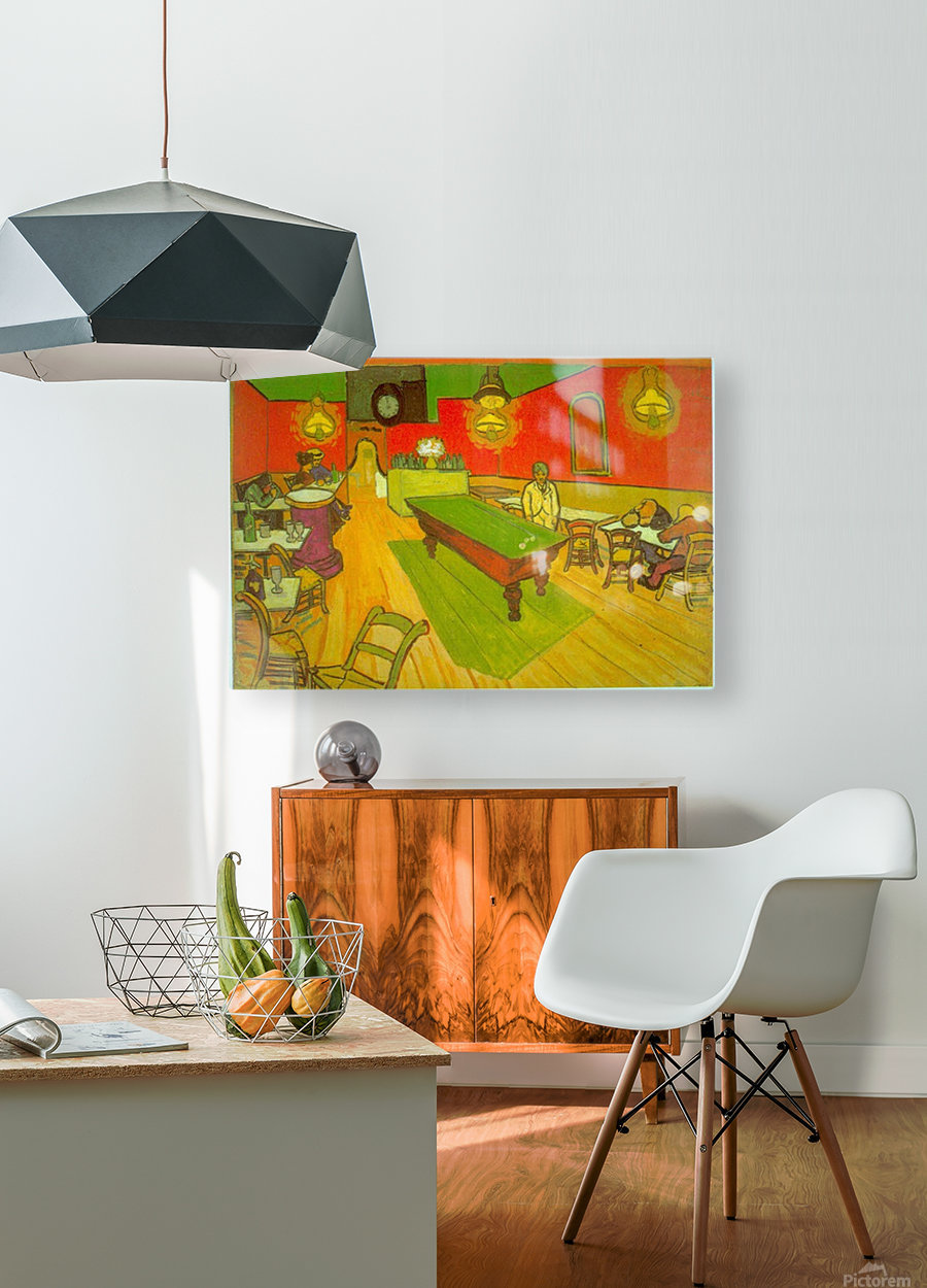 Night Cafe by Van Gogh  HD Metal print with Floating Frame on Back
