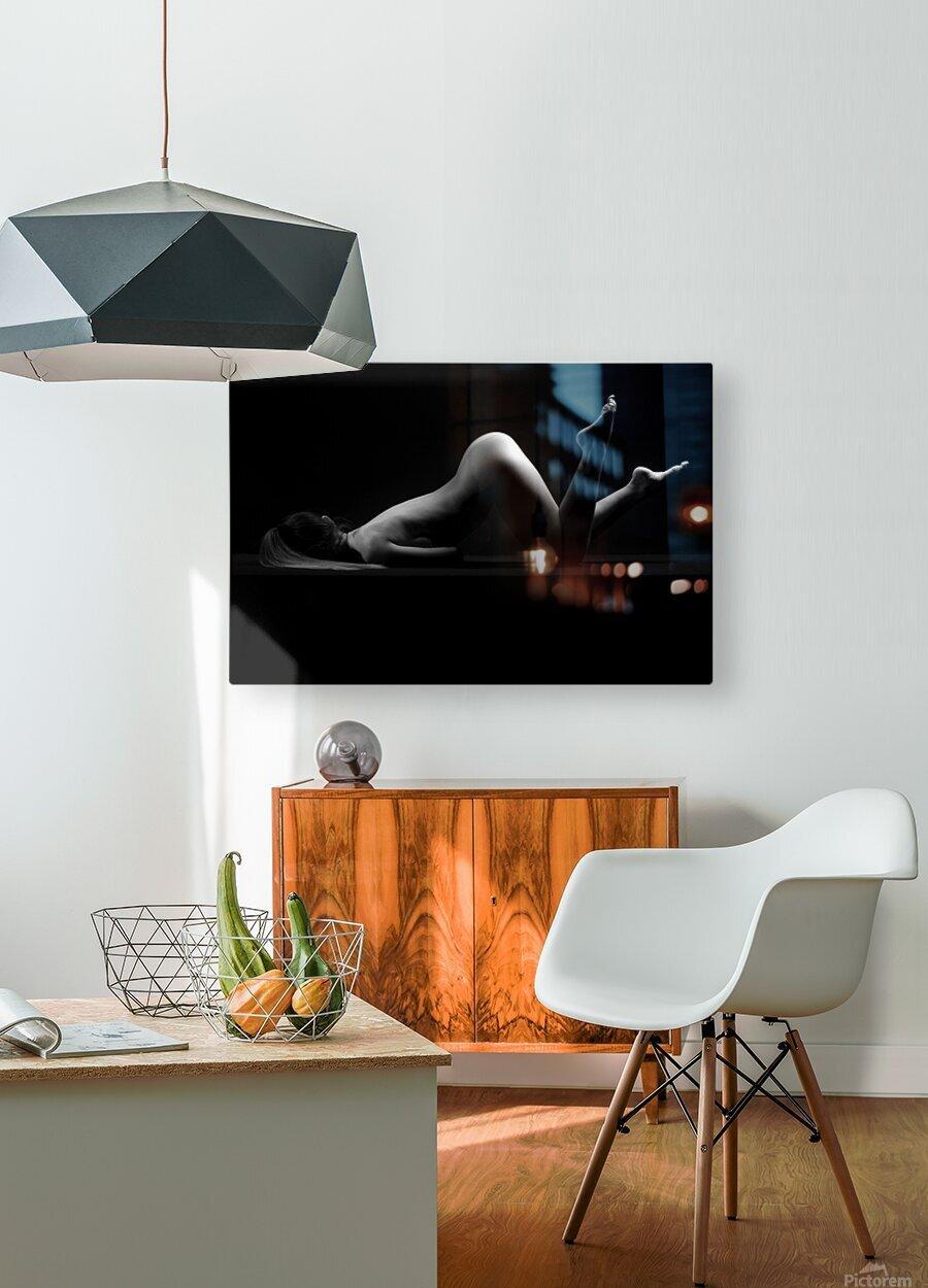 sensual_woman_nude_sexy_girl_laying_down_sleeping  HD Metal print with Floating Frame on Back