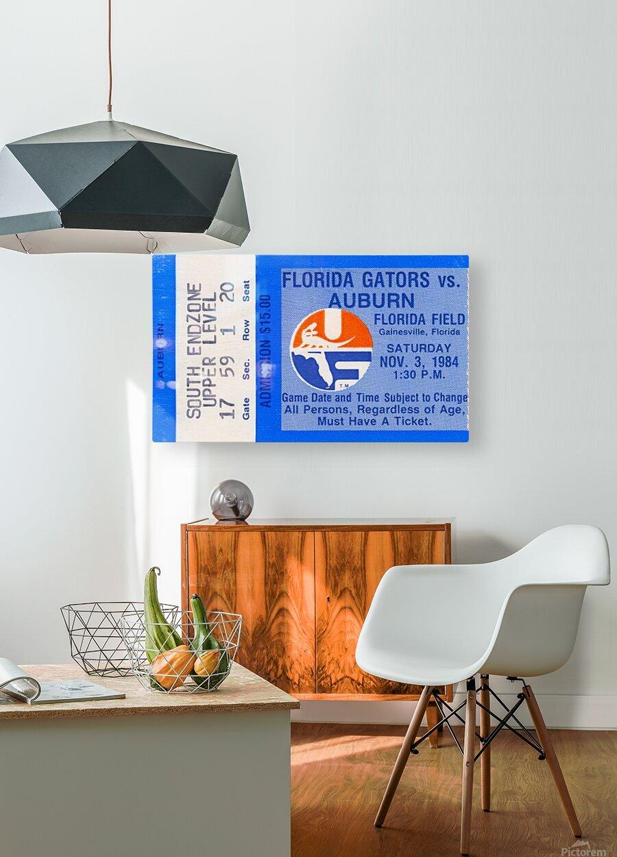 1984 Florida vs. Auburn  HD Metal print with Floating Frame on Back