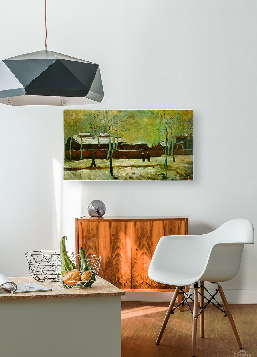 Old Station by Van Gogh  HD Metal print with Floating Frame on Back