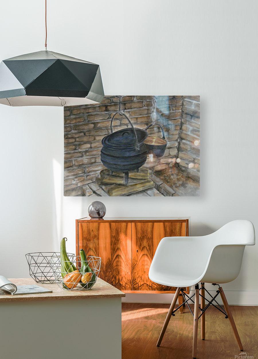 Pot Calling the Kettle Black  Impression métal HD avec cadre flottant sur le dos