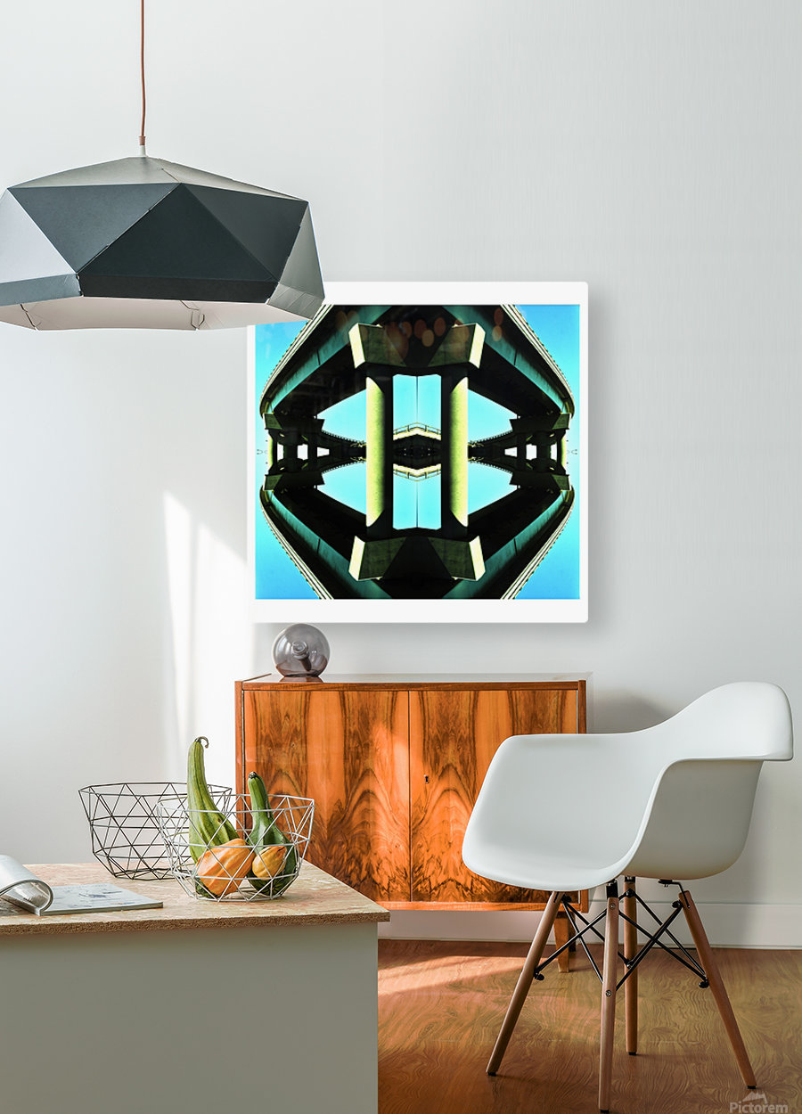 H  HD Metal print with Floating Frame on Back