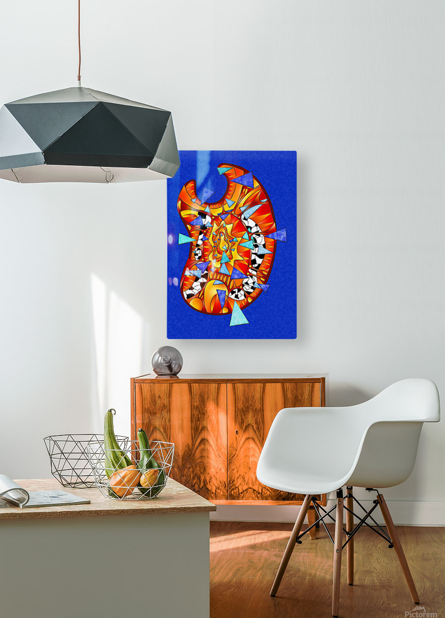 Dysitron V2  HD Metal print with Floating Frame on Back