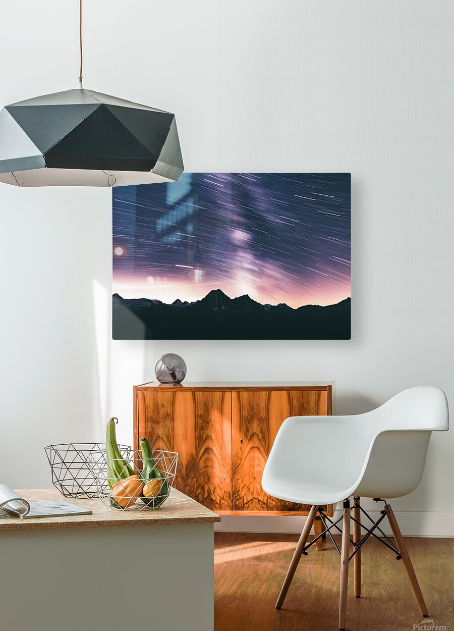 Moving stars  HD Metal print with Floating Frame on Back