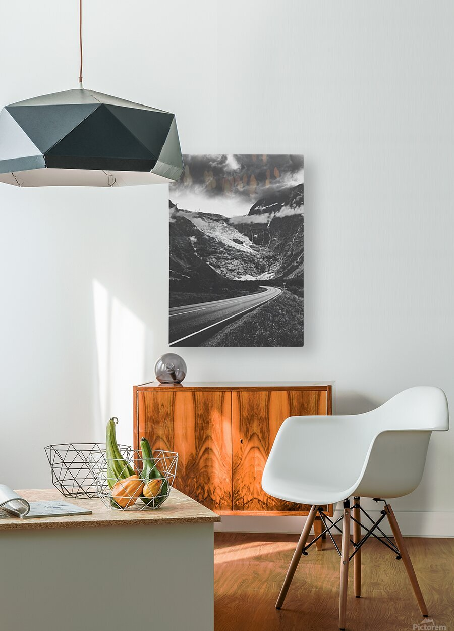 Into the wall of ice  HD Metal print with Floating Frame on Back