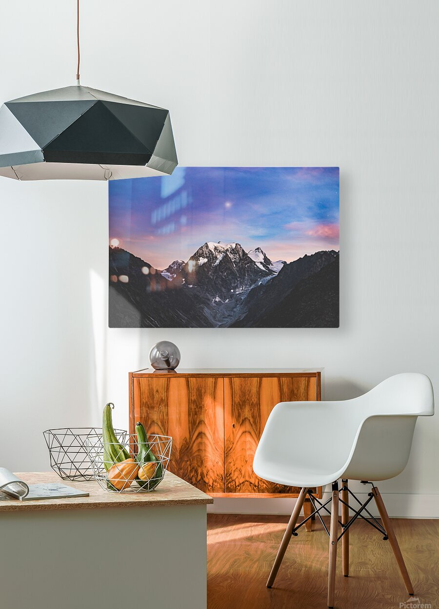 Shine on  HD Metal print with Floating Frame on Back