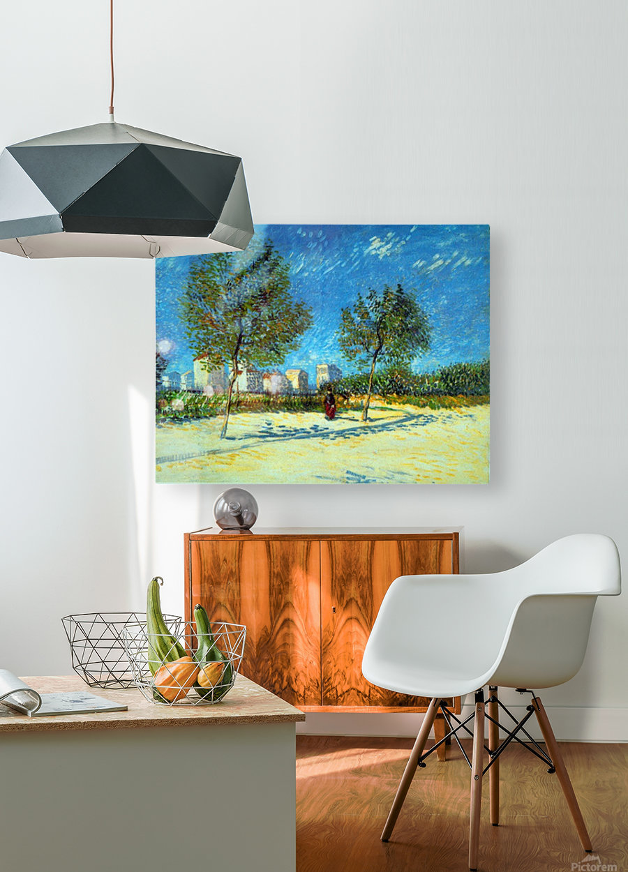 Outskirts by Van Gogh  HD Metal print with Floating Frame on Back