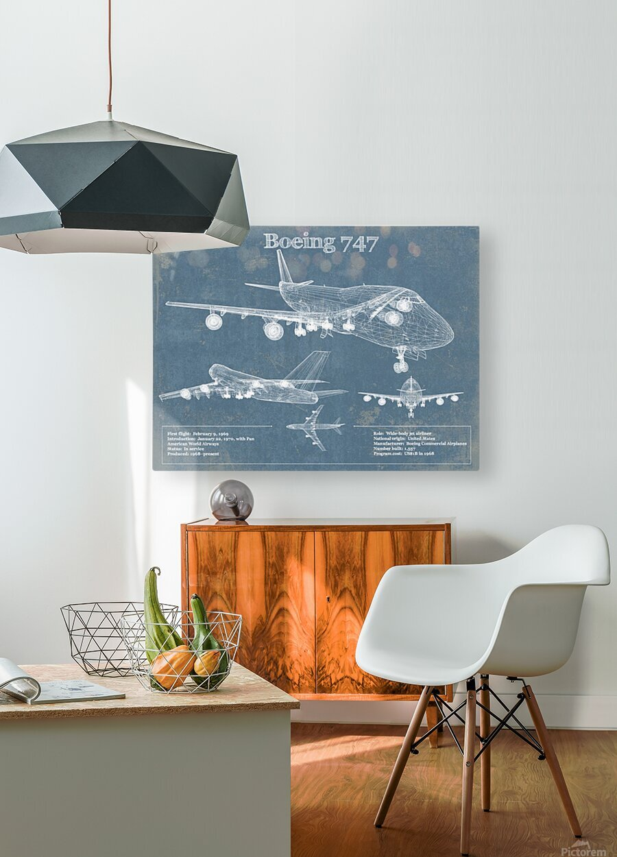 747  HD Metal print with Floating Frame on Back