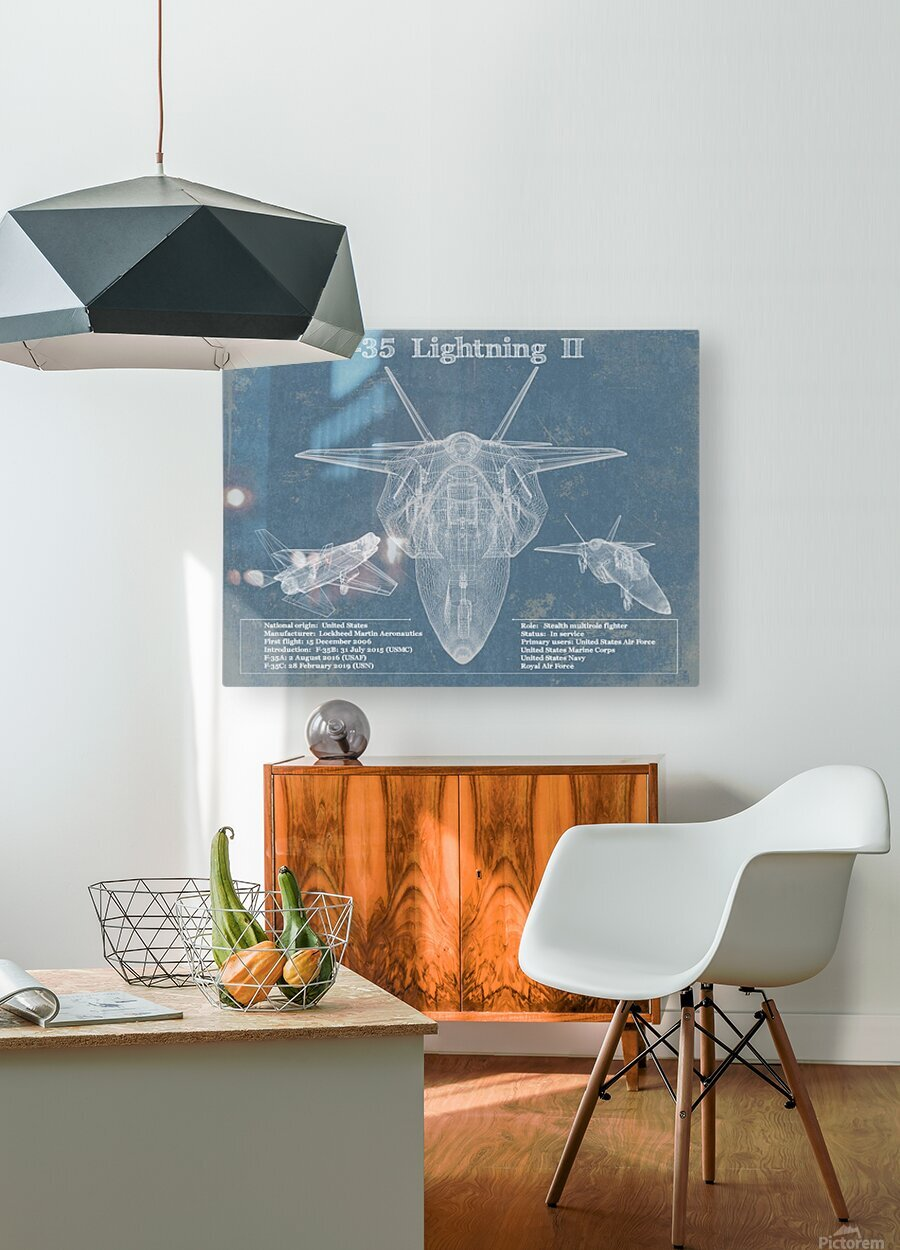 f 35  HD Metal print with Floating Frame on Back