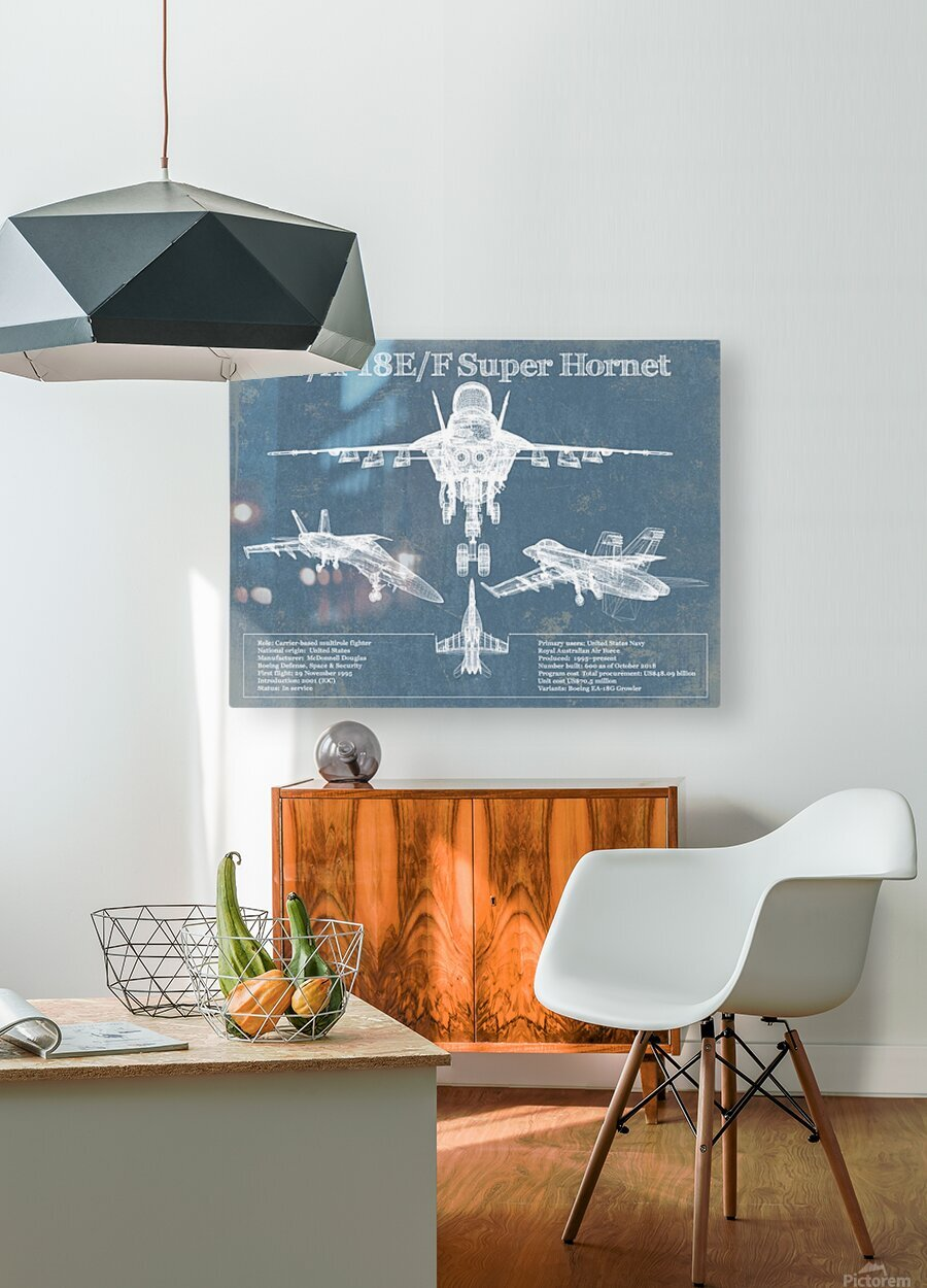 fa18  HD Metal print with Floating Frame on Back